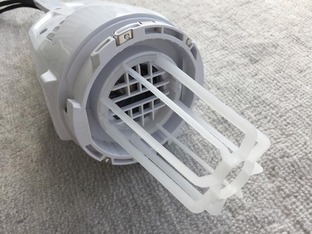 マキタ充電式クリーナCL106FD,本体のモーター部分