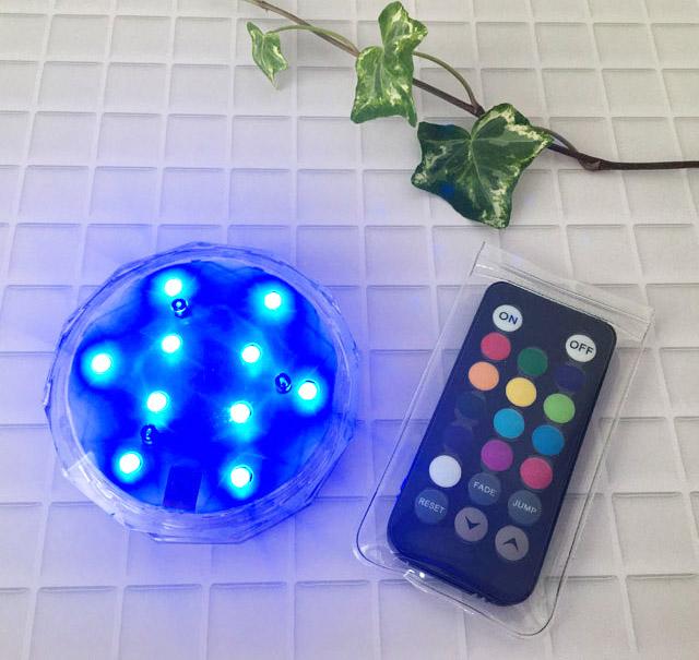 青色の電気がついたアクアライト,防水バスライト,AquaLight,