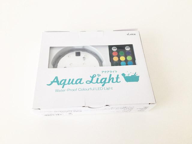 アクアライト,水中で使えるカラフルLEDライト,箱,AquaLight,