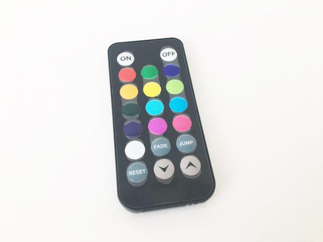 アクアライトの13色の色を選べるリモコン,防水バスライト,AquaLight,