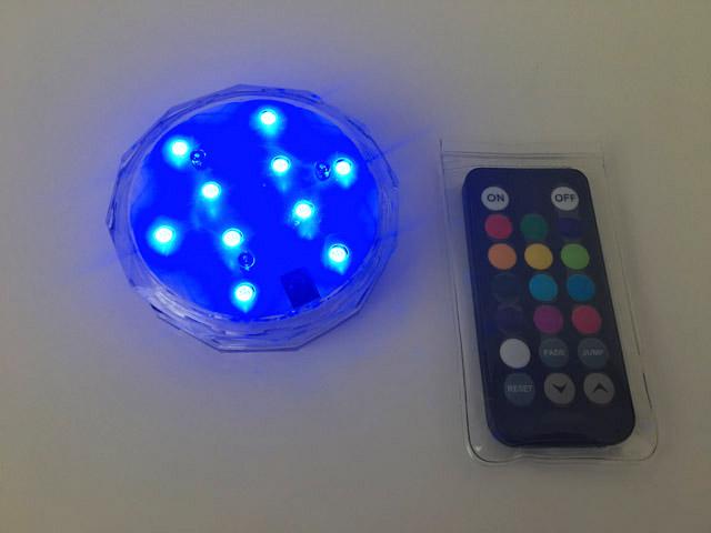 青色に光るアクアライト,防水バスライト,AquaLight,