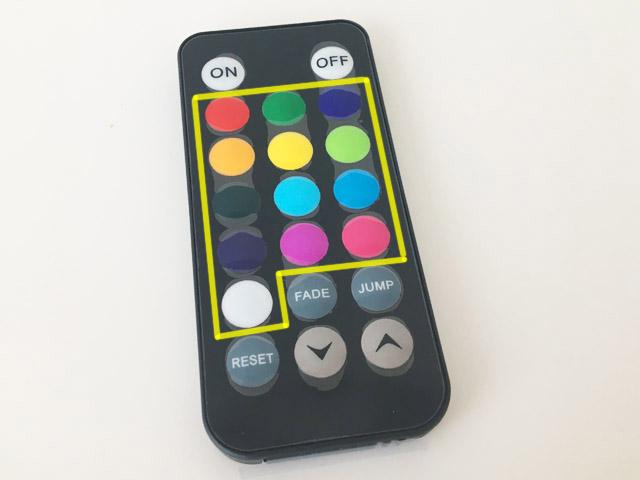 アクアライト,13色の光から選べるリモコン,防水バスライト,AquaLight,