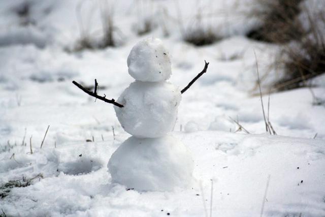 冬景色,雪だるま,
