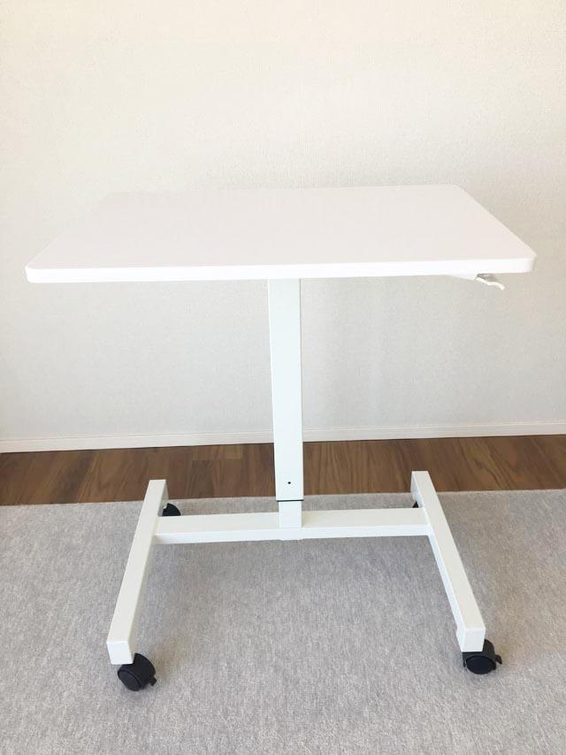昇降式テーブル,スタンディングテーブル,キャスター付き,勉強机,学習机,パソコンデスク,高さ調節ができる机,
