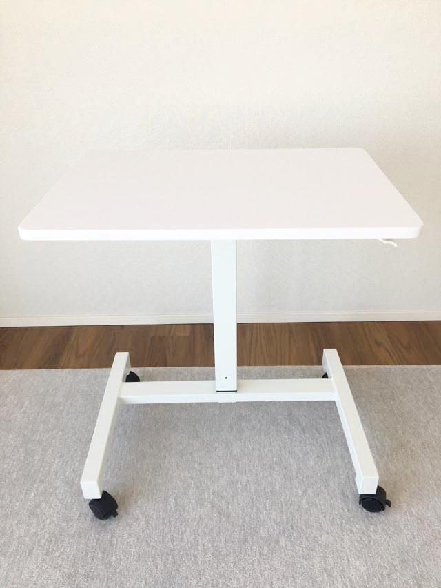 スタンディングデスク,昇降式テーブル,75cm,一番低くした状態,勉強机,学習机,パソコンデスク,高さ調節ができる机,