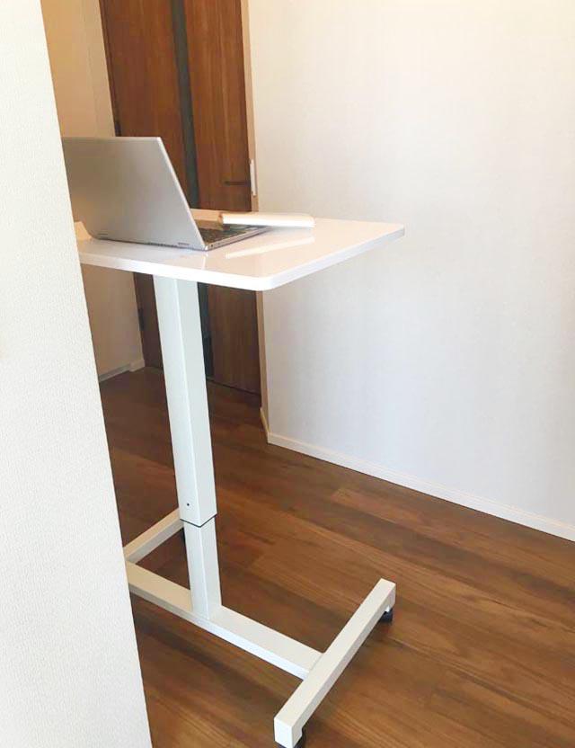 キャスター付き昇降式スタンディングデスク,勉強机,学習机,パソコンデスク,高さ調節ができる机,