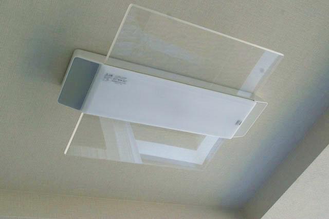 パナソニック,AIR PANEL LED,スピーカー付きのシーリングライトを天井に取り付けた状態,LINK STYLE LED シーリングライト,HH-XCC0887A,