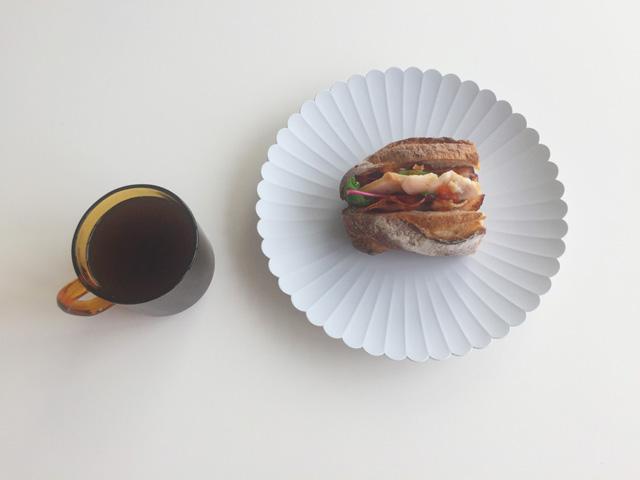 TYパレス,コーヒーとサンドイッチ