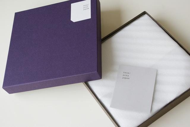 TYパレス,1616 arita japan,菊の形のお皿,外箱が紫色の化粧箱