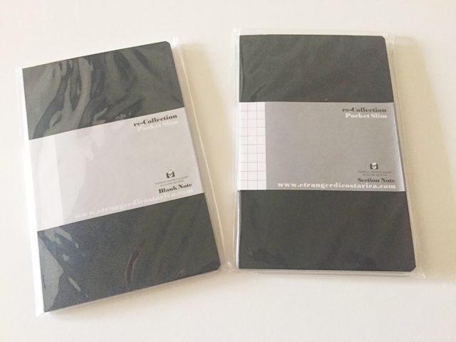 左が無地、右が方眼のエトランジェ ディ コスタリカのノート,