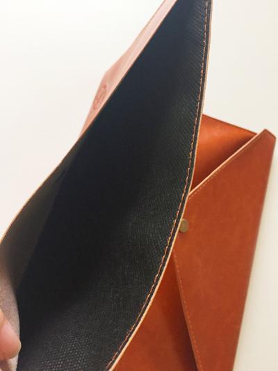 ノートカバー,A5,全面ポケット付き高級合皮ノートカバー,ポケットを開いている状態,