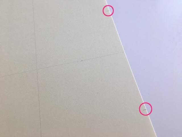 ロルバーン,フレキシブル,Rifill,4SECTIONS,右側の端に2つ目印が入っているところにピンクの〇で囲っている,Rollbahn,