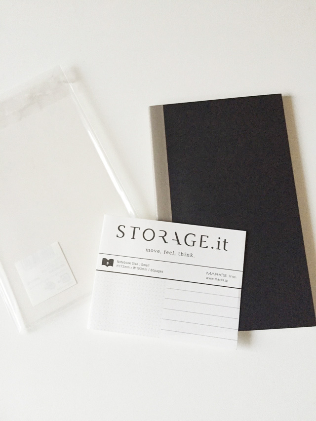 Strage it,ストレージイット,Mark's,マークス,ノート,袋から開けた状態