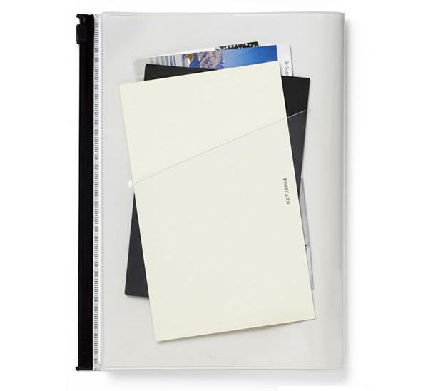 Strage it,ストレージイット,Mark's,マークス,ノート,カバーにカードなどを入れている