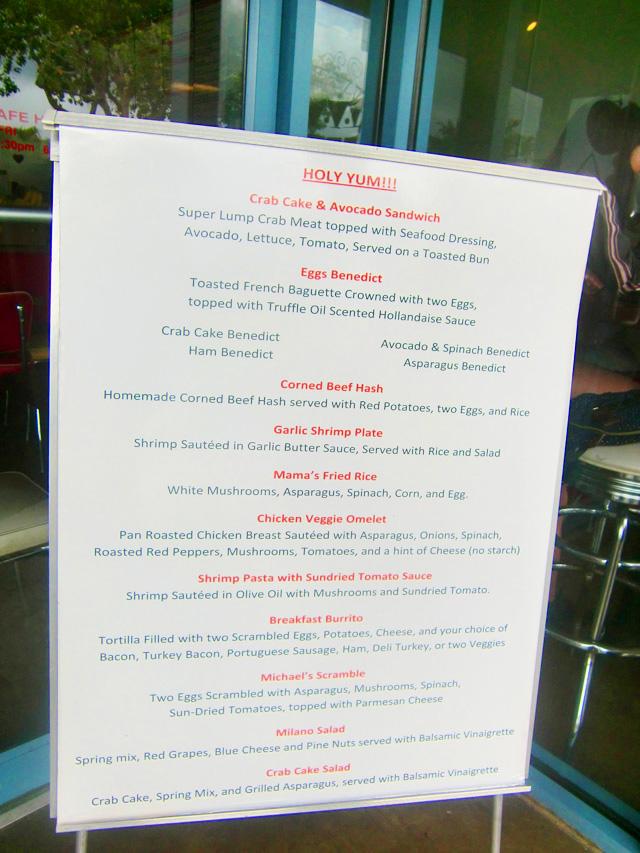 ボガーツカフェのメニュー,bogart's cafe