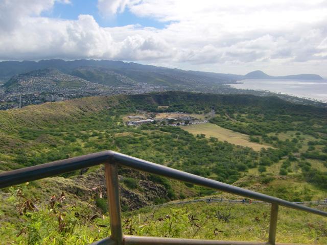 ダイヤモンドヘッド,下山,ハワイ