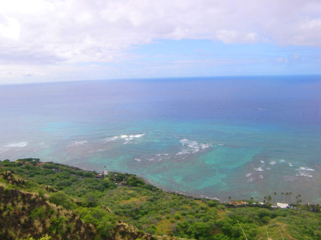 ダイヤモンドヘッド,頂上,ハワイ