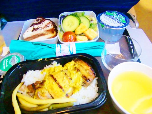 ハワイアン航空,機内食,チキン