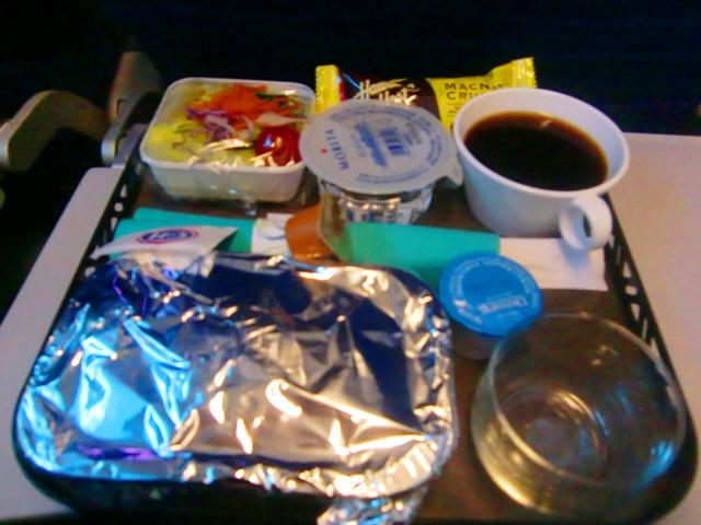 ハワイアン航空,機内食